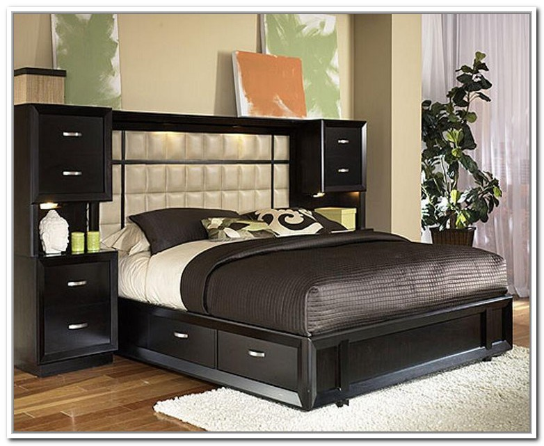 Full Bed Frame With Storage And Headboard