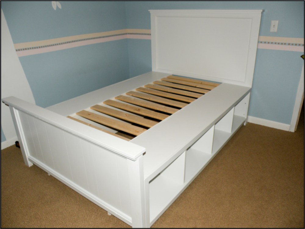 Full Bed Frame With Storage Diy