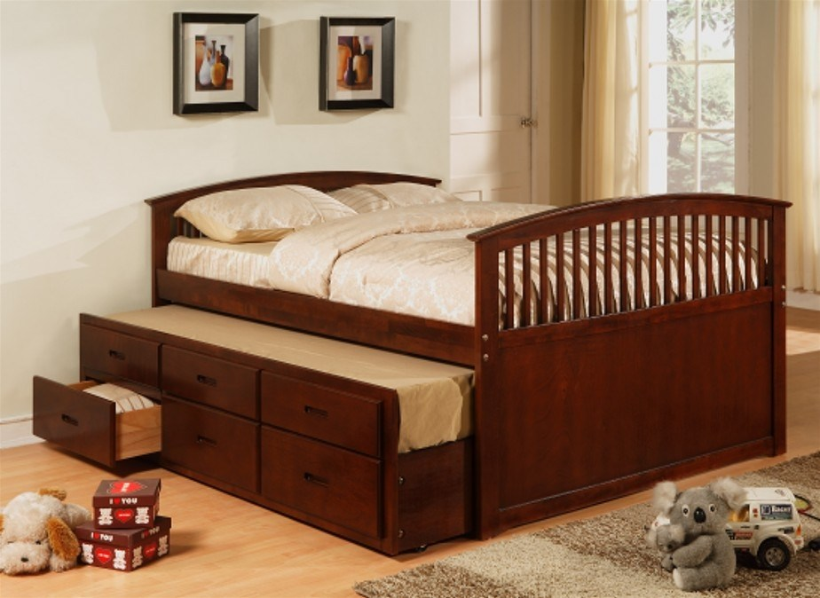 Full Bed Frame With Storage
