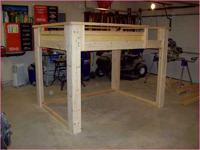 Full Loft Bed Frame Plans