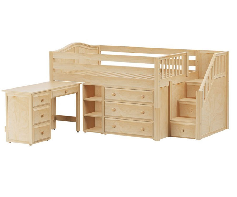 Full Low Loft Bed Frame