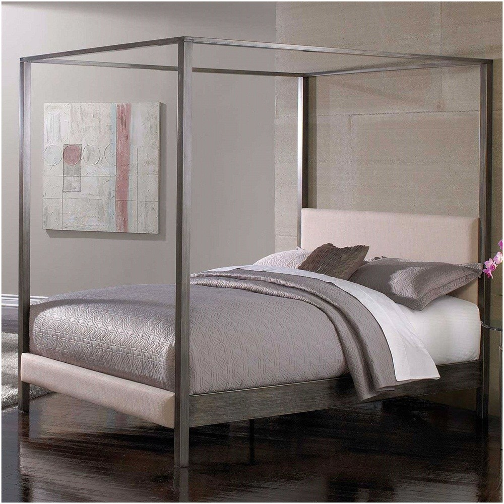 Full Metal Canopy Bed Frame