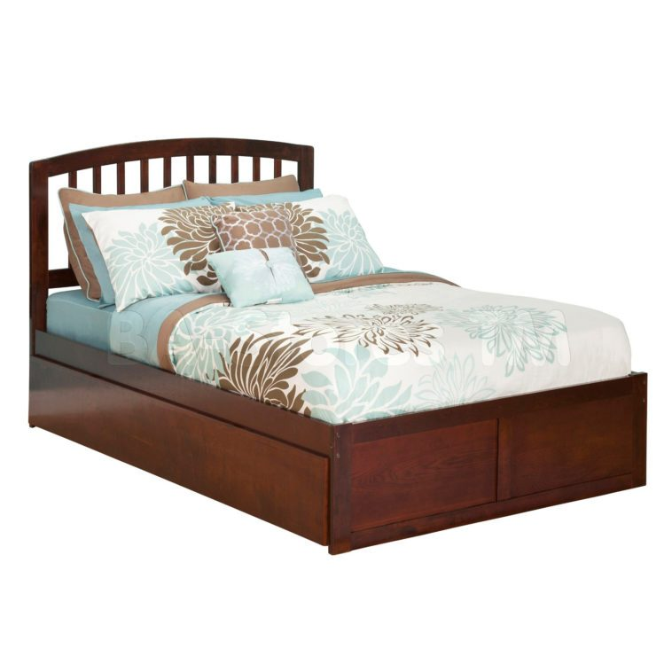 Full Platform Bed Frame With Trundle