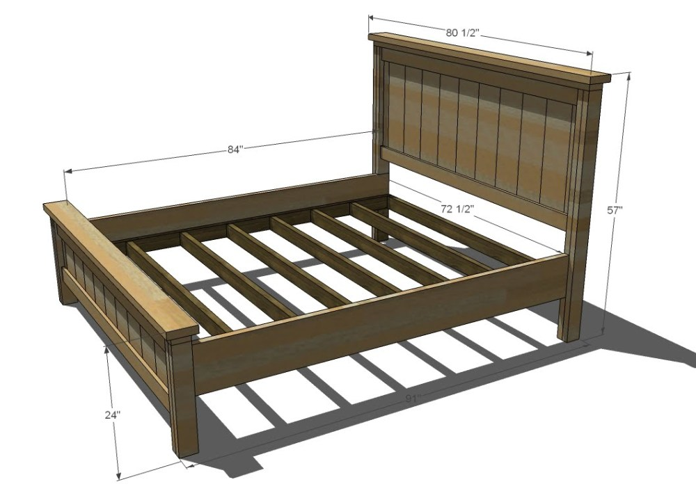 Full Size Bed Frame Measurements