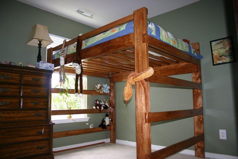 Full Size Loft Bed Frame Plans