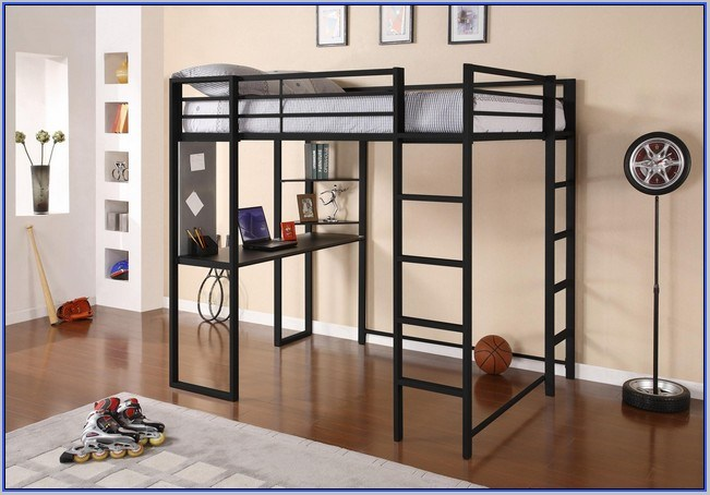 Full Size Loft Bed Frame Wood