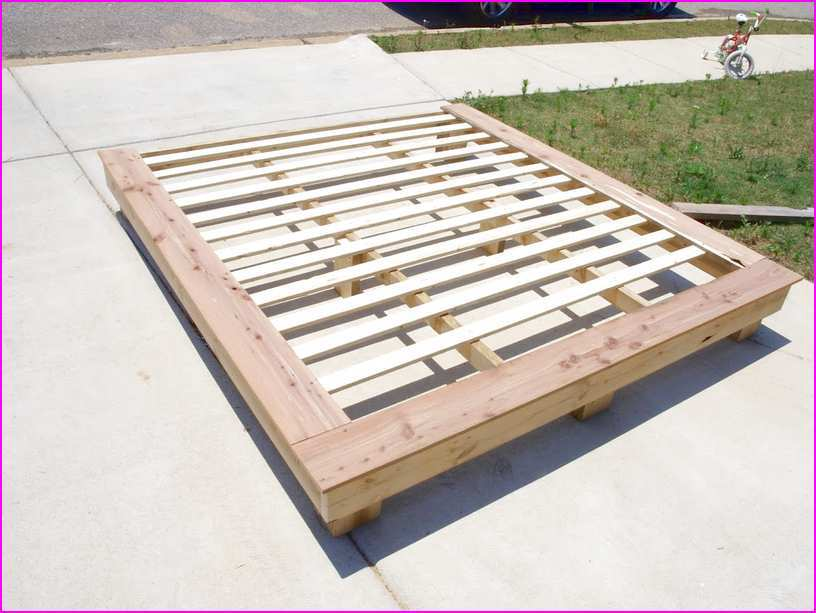 Full Size Platform Bed Frame Diy
