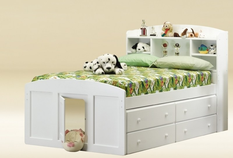 Full Size White Bed Frame