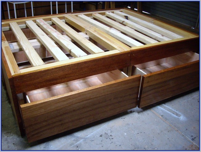 Full Size Wooden Bed Frame Plans