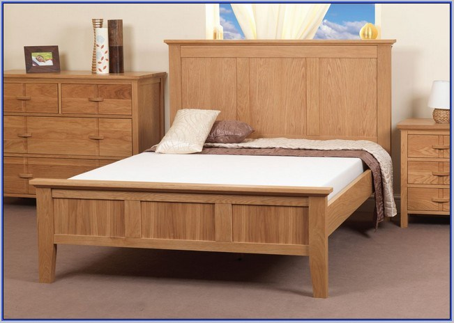 Full Size Wooden Bed Frame With Drawers