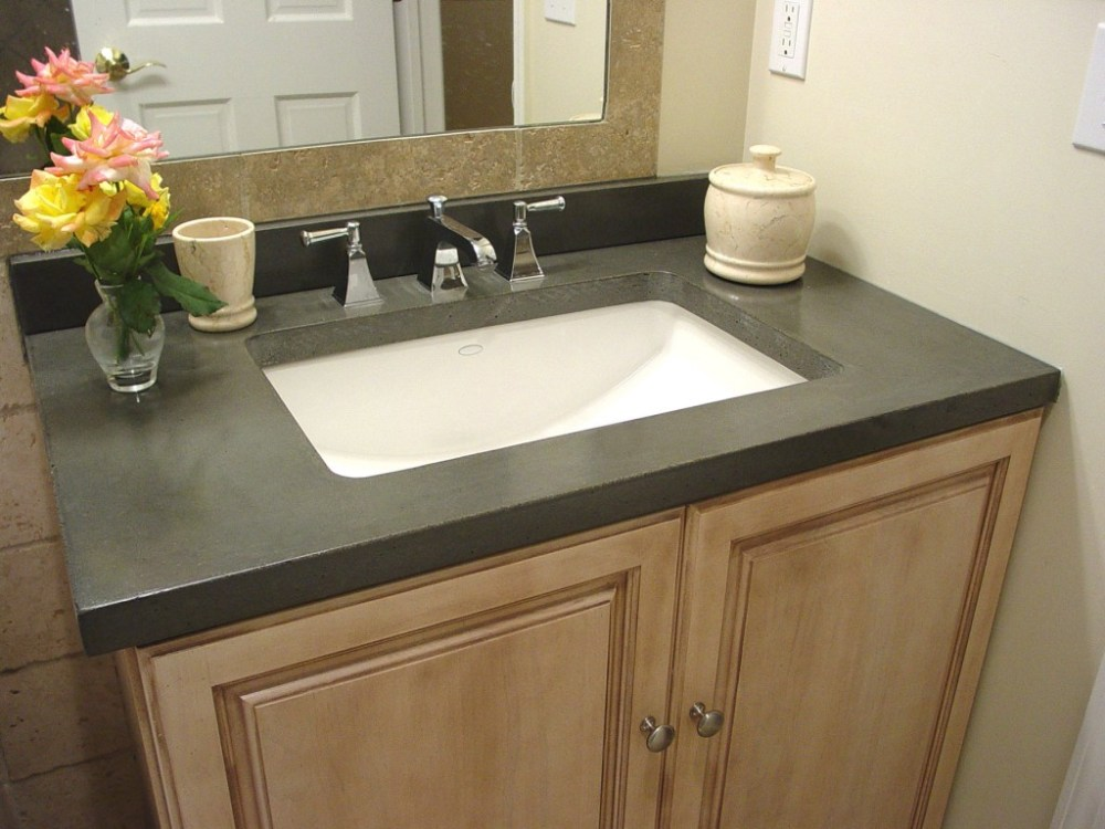 Glass Tile Bathroom Countertop Ideas