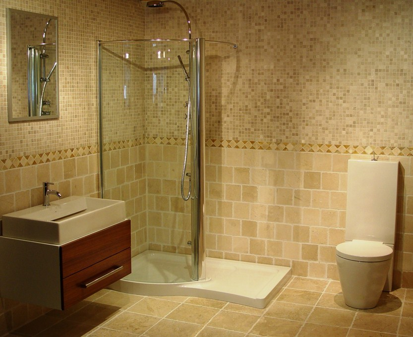 Glass Tile Border Bathroom Ideas