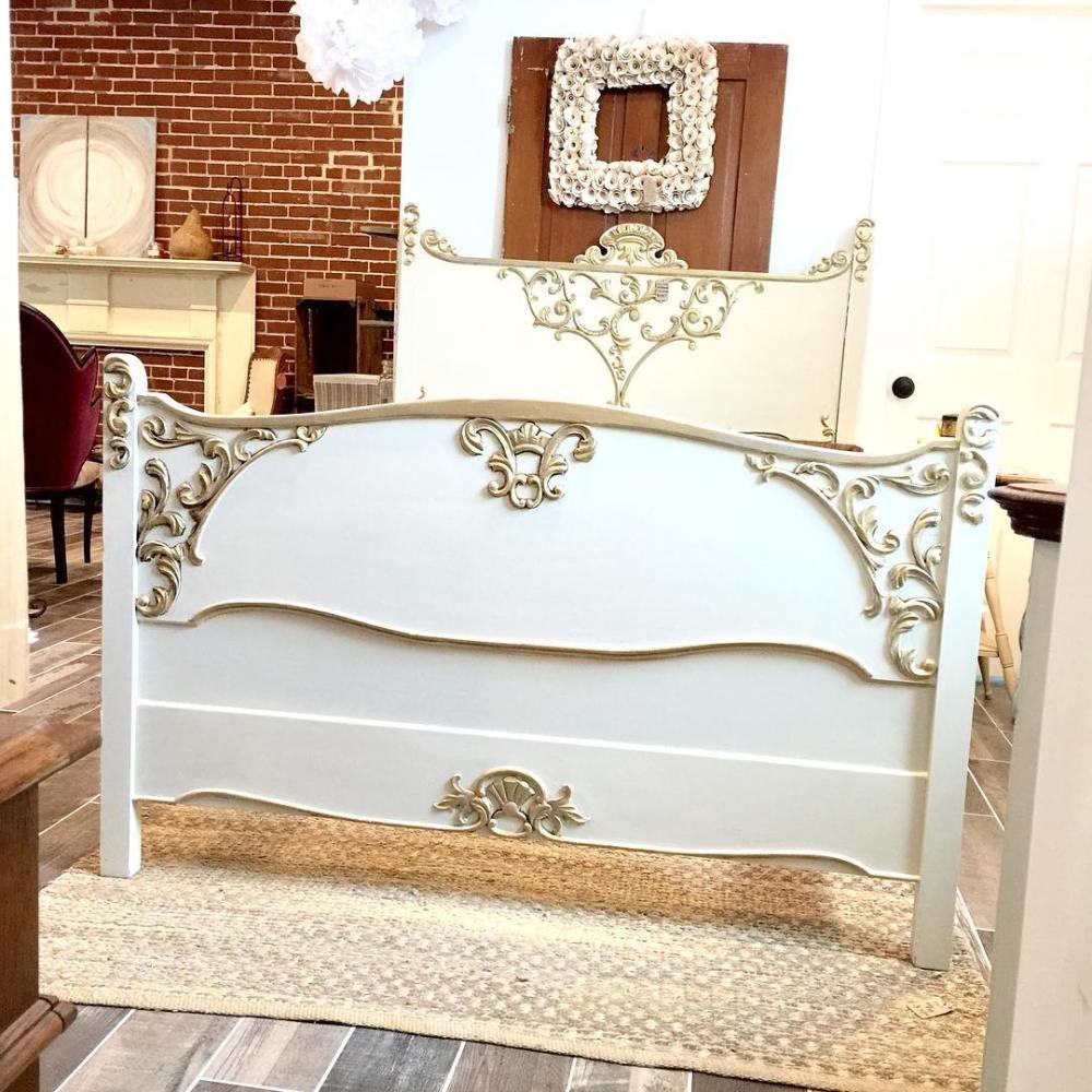 Gold Bed Frame Full