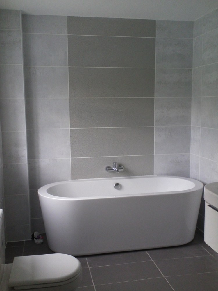 Gray And White Bathroom Tile Ideas
