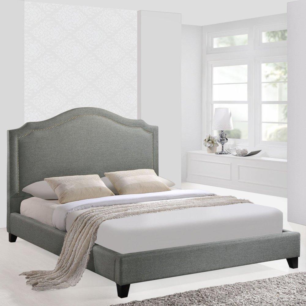Gray Bed Frame Queen
