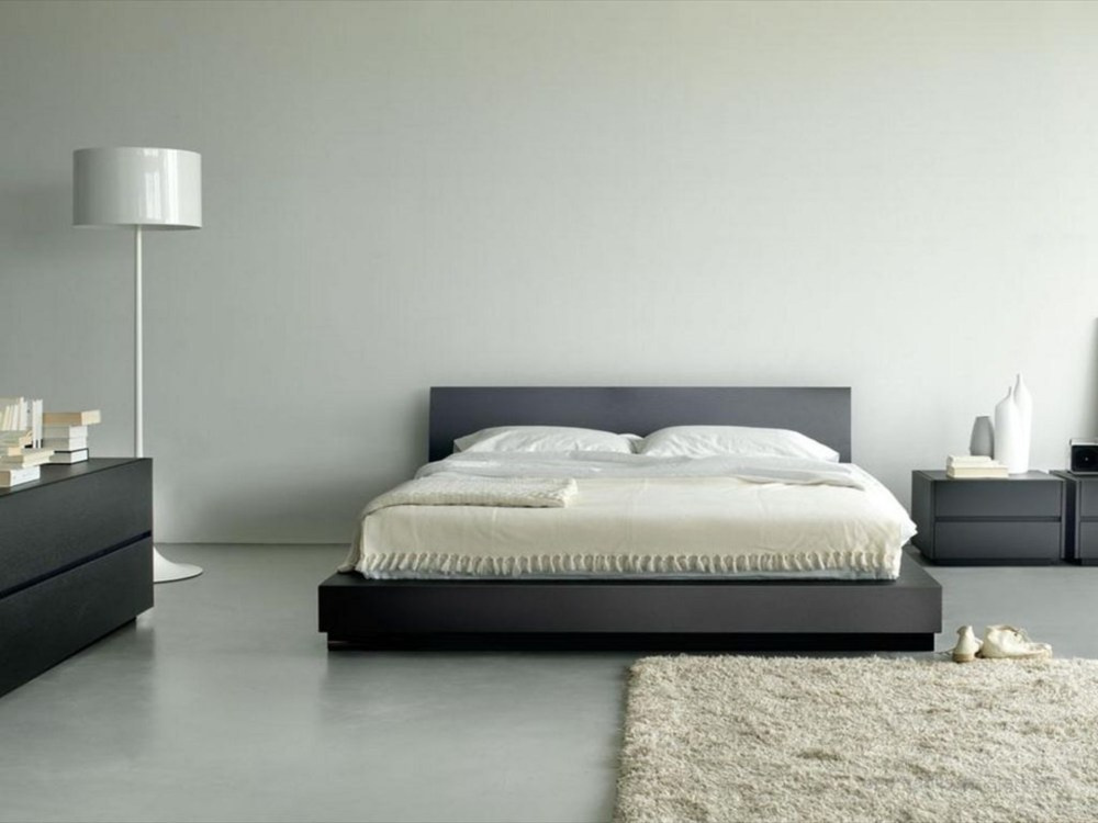 Gray Wood Bed Frame