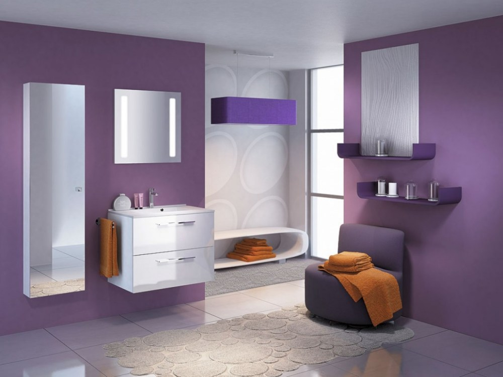 Green Purple Bathroom Ideas