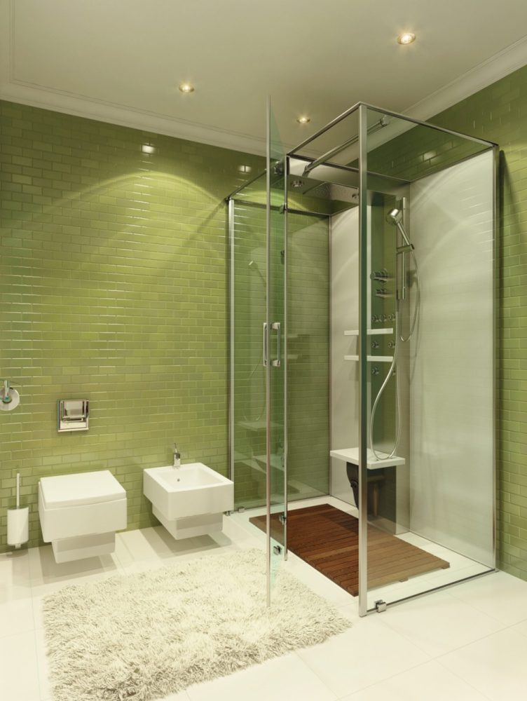 Green Tile Bathroom Ideas