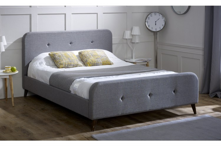 Grey Bed Frame Double