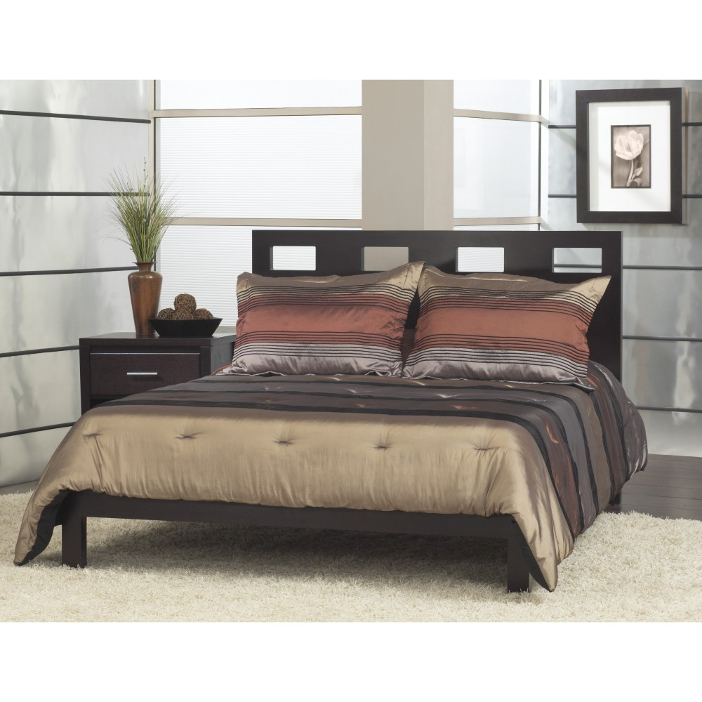 Grey Bed Frame With Headboard