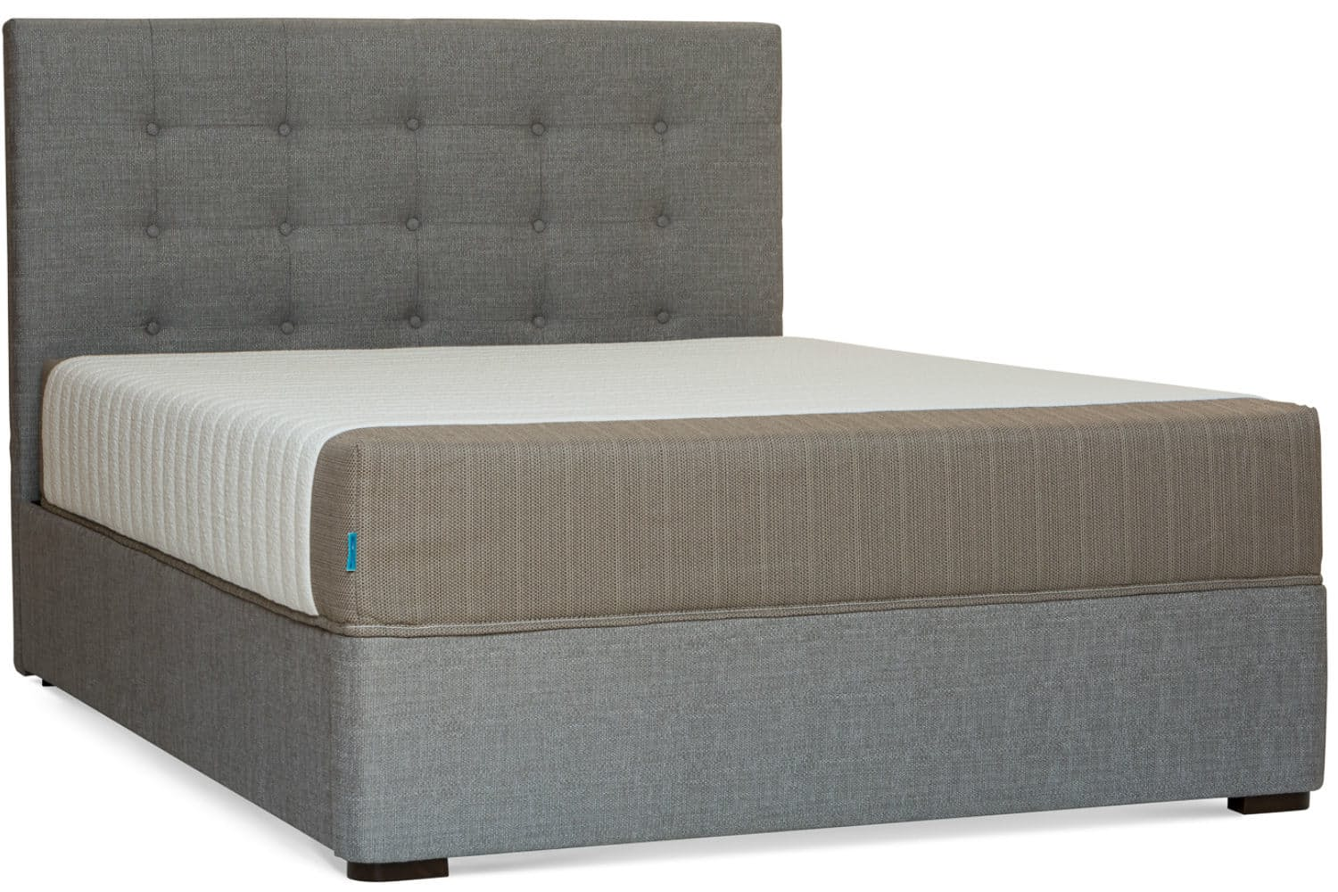Grey Button Bed Frame