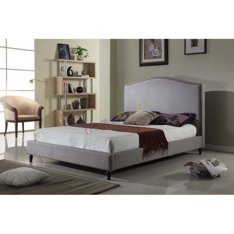 Grey Fabric Queen Bed Frame