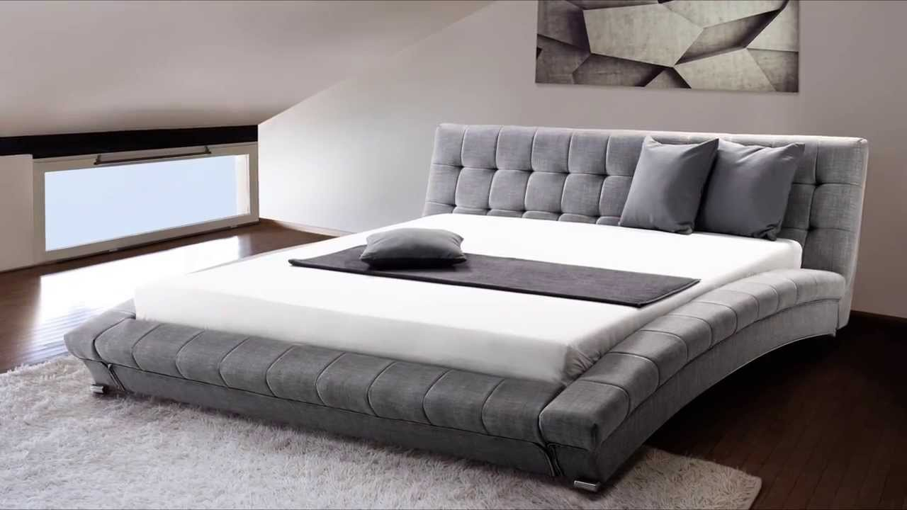 Grey King Size Bed Frame