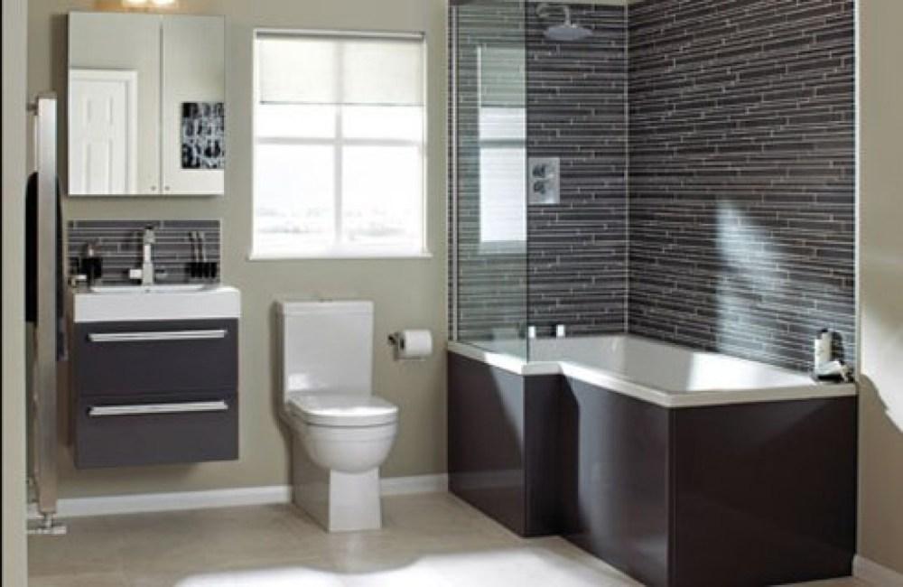 Grey Purple Bathroom Ideas