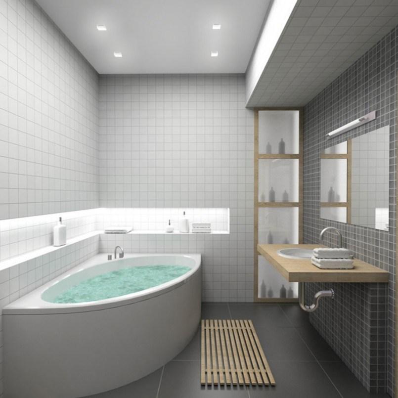 Grey Red Bathroom Ideas