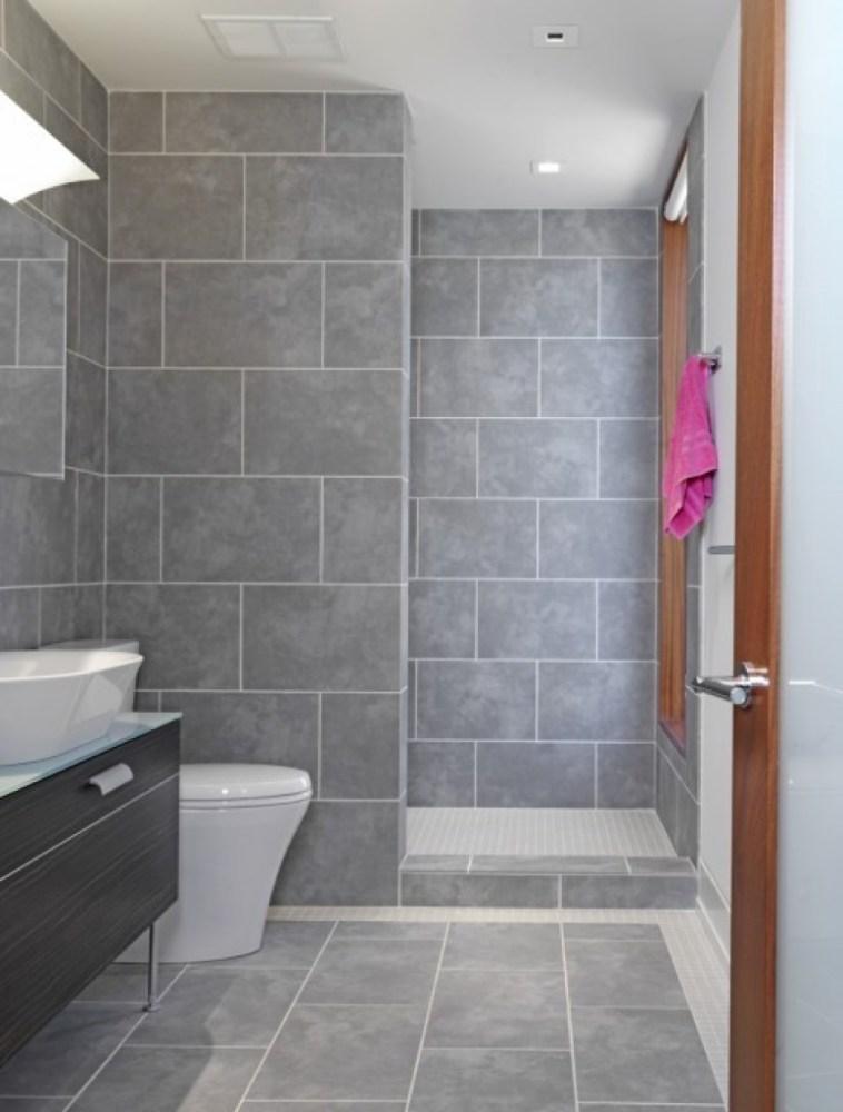 Grey Tile Bathroom Ideas Pinterest