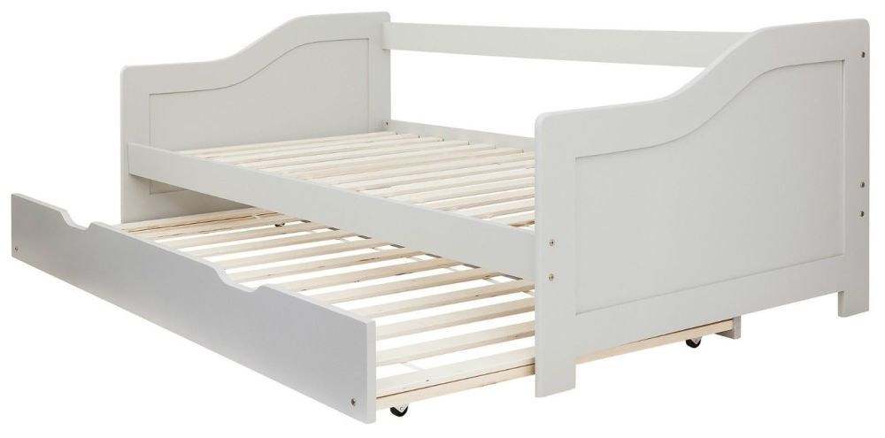 Grey Wooden Single Bed Frame