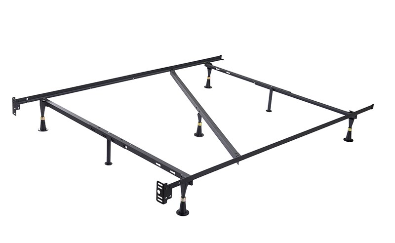 Heavy Duty Metal Queen Size Bed Frame With Center Support