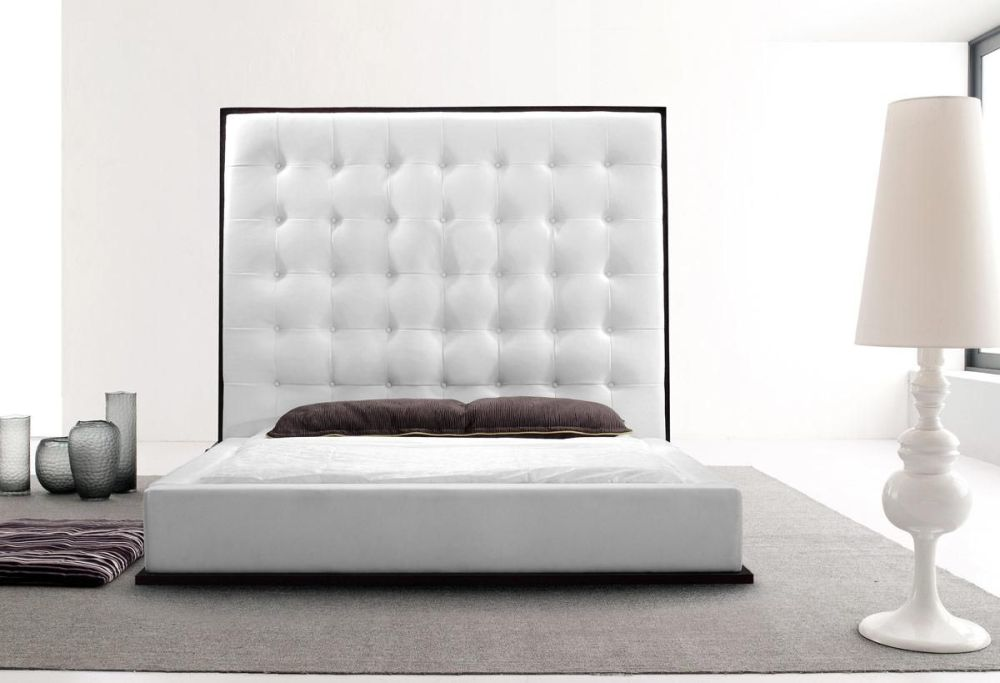 High Bed Frame With Headboard