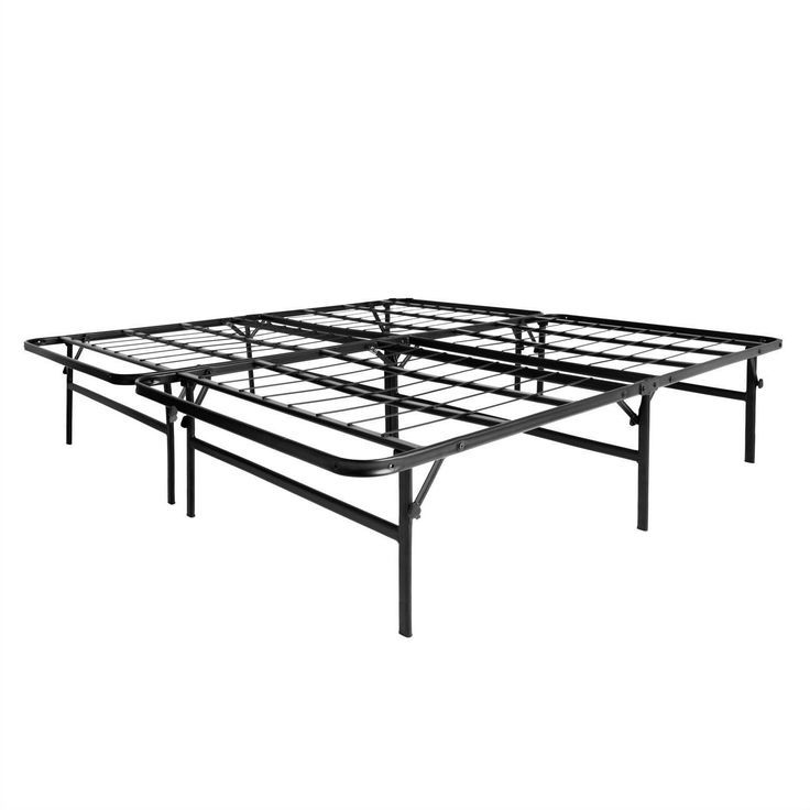 High Metal Bed Frame Full