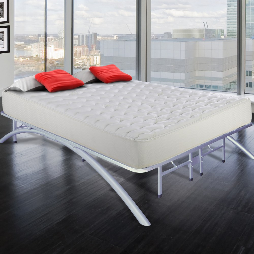 High Platform Bed Frame King