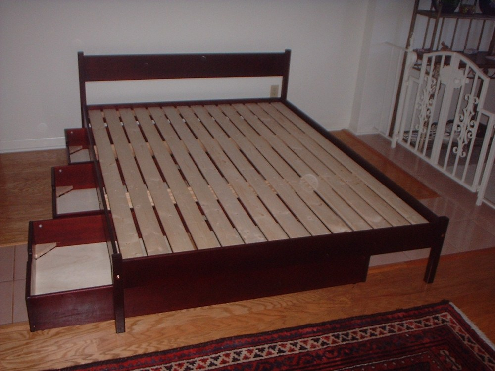 High Platform Bed Frame Queen