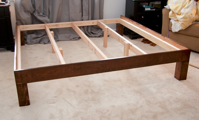 How To Build A Platform Bed Frame With Legs