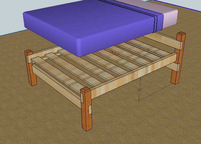 How To Build A Platform Bed Frame With Storage
