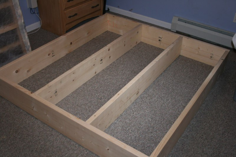 How To Build A Queen Size Bed Frame With Storage