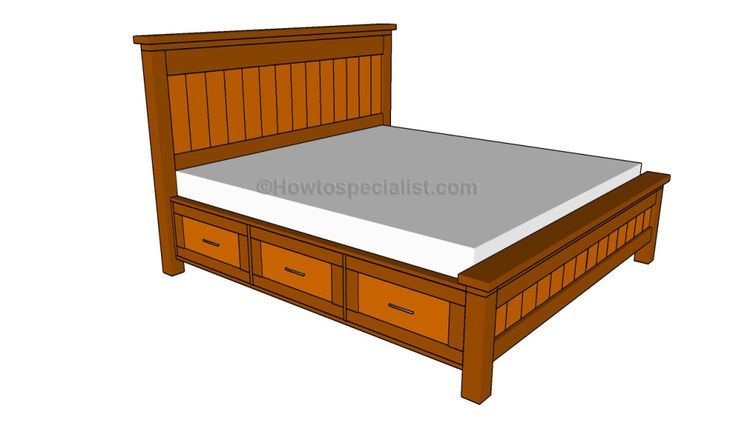 How To Build A Twin Size Bed Frame With Drawers