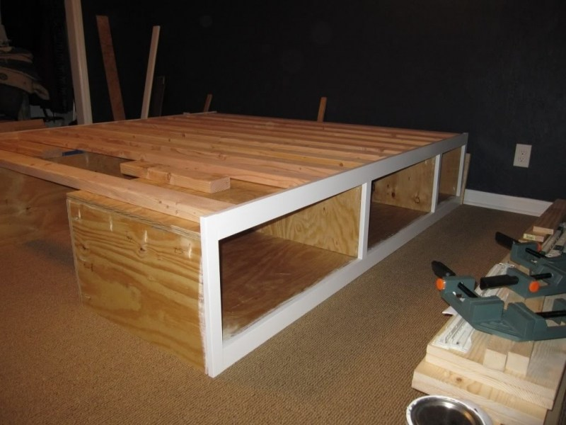 How To Make A Bed Frame With Drawers