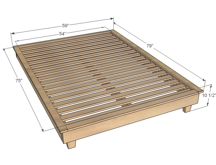 How To Make A Platform Bed Frame Out Of Wood