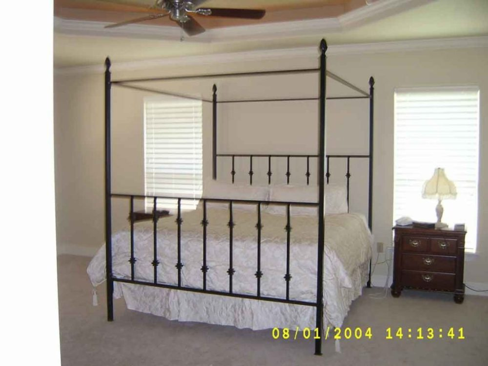 Iron Canopy Bed Frame Full