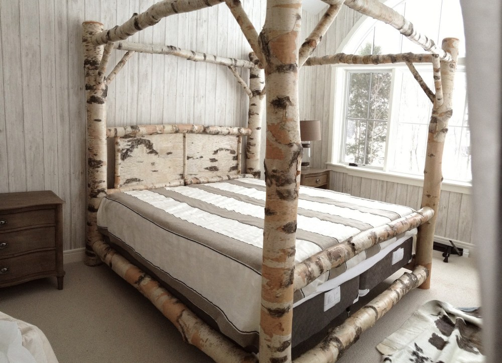Iron Canopy Bed Frame King