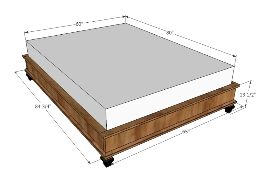 King Bed Frame Dimensions