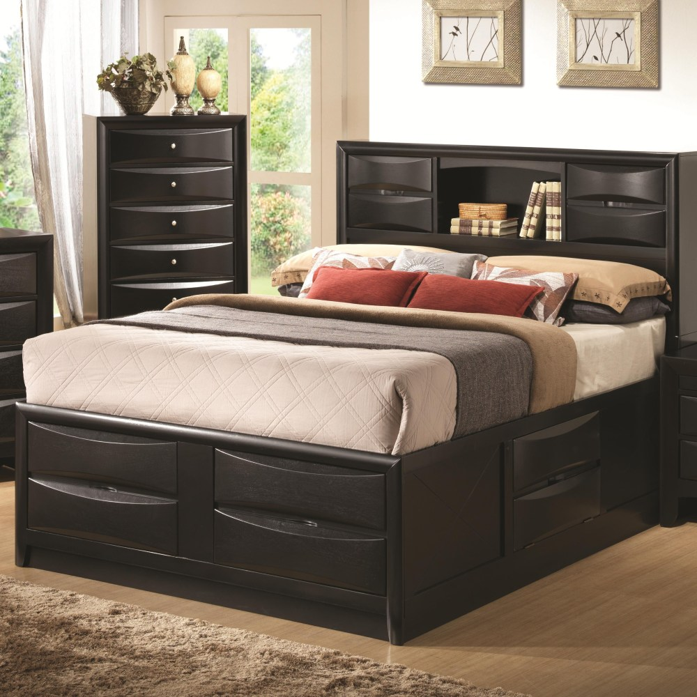 King Bed Frame With Headboard Storage
