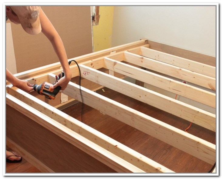 King Bed Frame With Storage Diy
