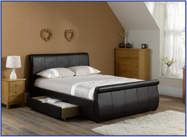 King Bed Frames With Storage Drawers