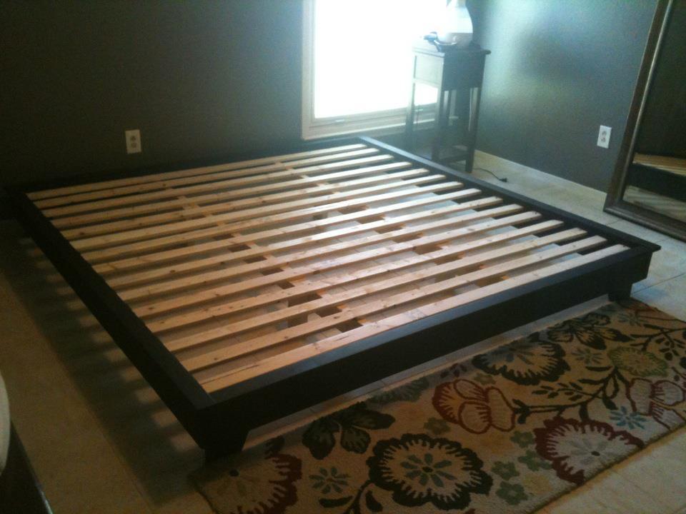 King Platform Bed Frame Plans