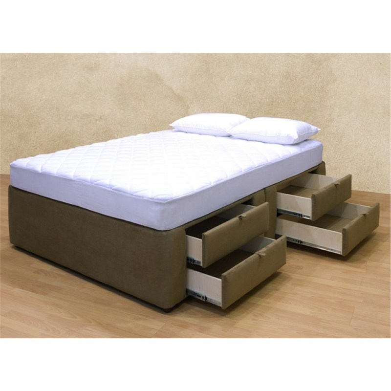 King Platform Bed Frame With Storage